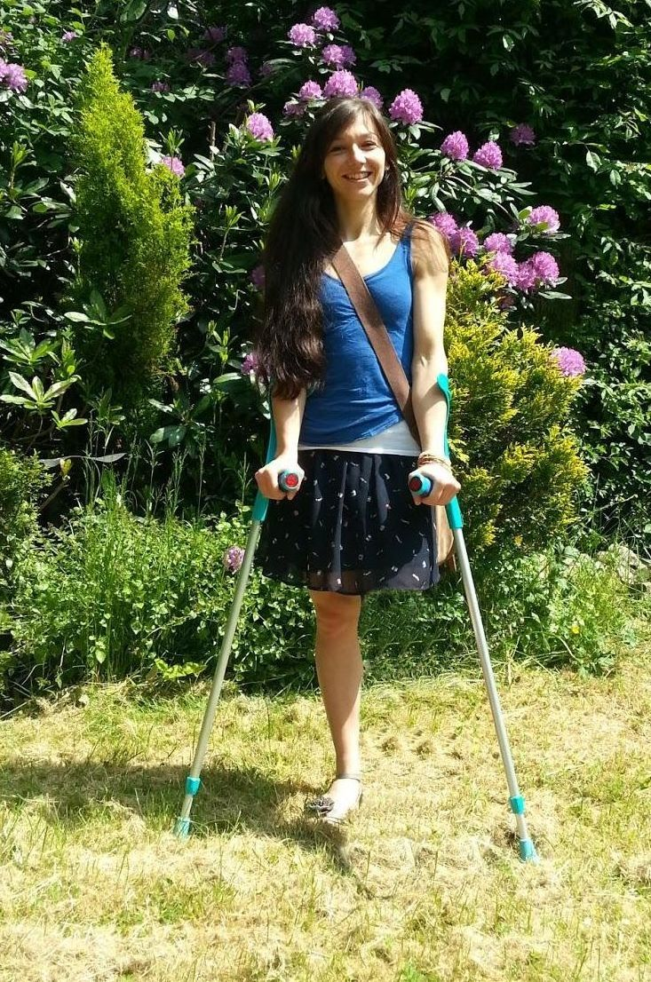 Ak Woman Amputee Crutches