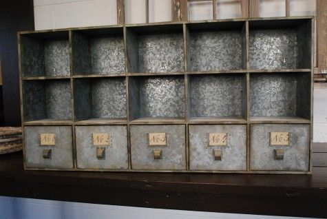 Wonderful Vintage Zinc Storage Unit My Future House