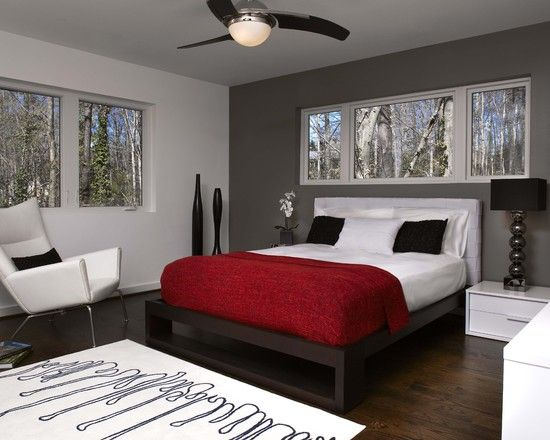 Find This Pin And More On Feng Shui Master Wonderful Red Grey Combos To Incorporate In The Bedroom