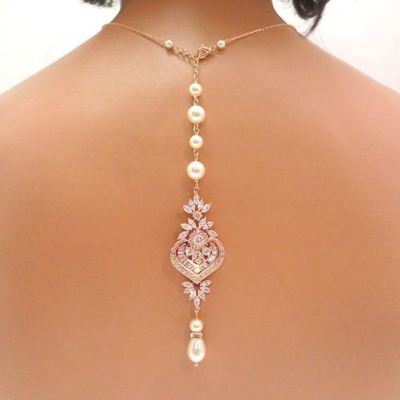 Bridal backdrop necklace Ro
