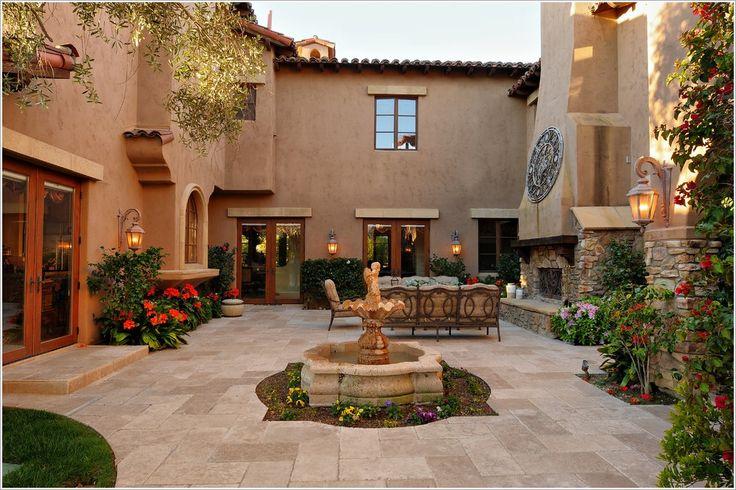 Patio-Mediterranean-San-Diego-courtyard-Fireplace