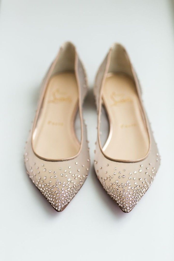 Cutest Flat Wedding Shoes for the Love of Comfort and Style – Shoes: Christian Louboutin | Photography: Ann & Kam Photography