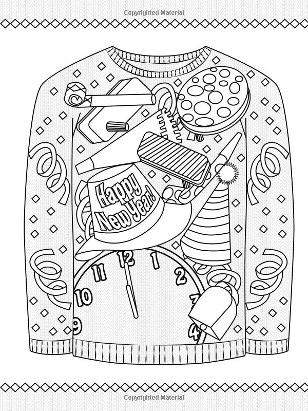 ugly holiday sweaters coloring book coloring pages