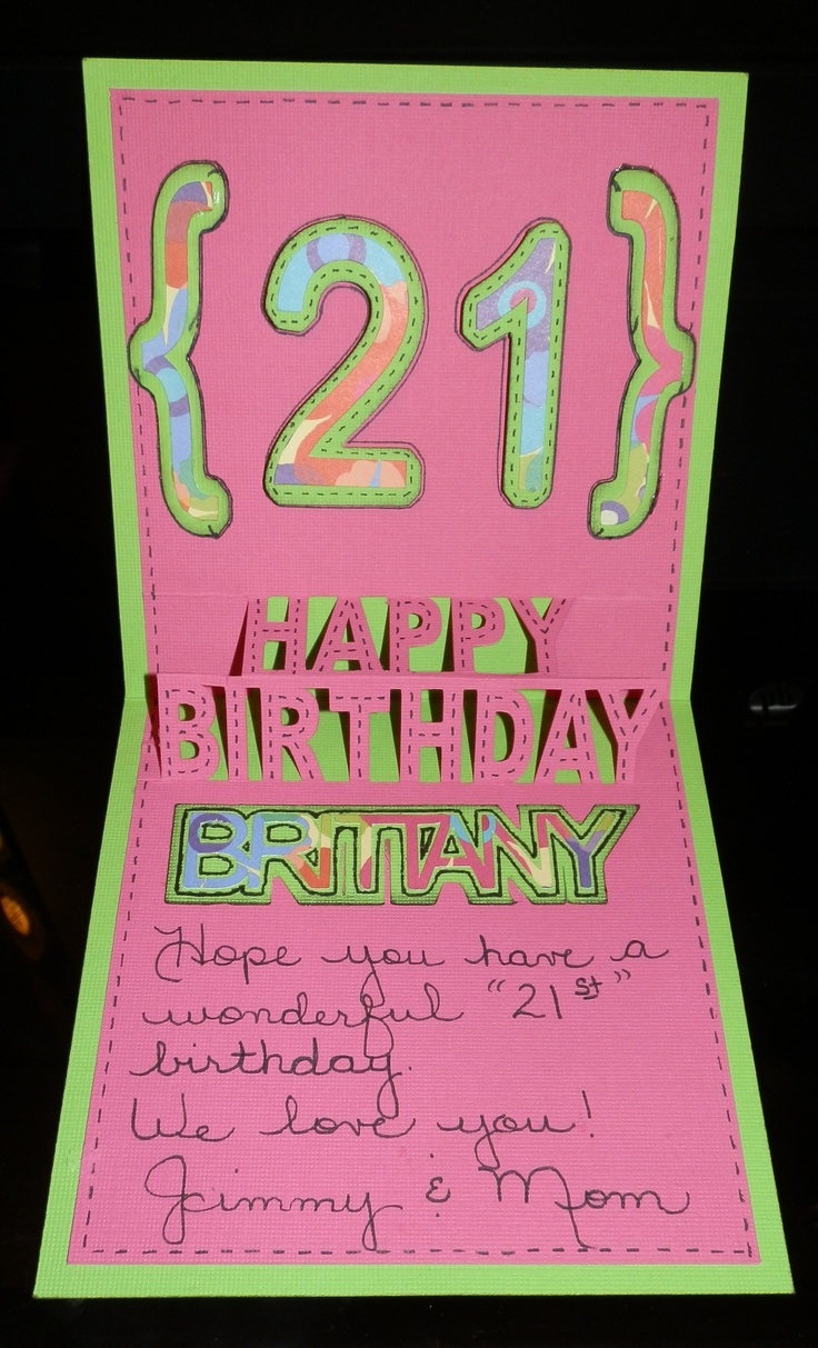 Daughters 21st Birthday Card 21st Birthday Party Ideas