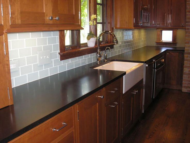 Chosing a backsplash with black granite counters ... on Backsplash For Maple Cabinets And Black Granite  id=99653