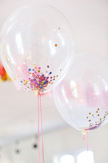 Confetti-filled balloons –