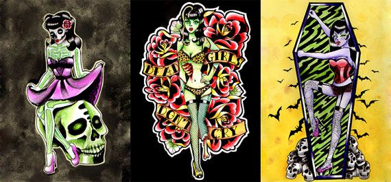17 Best Ideas About Zombie Girl Tattoos On Pinterest