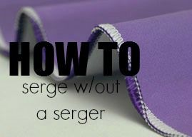 Really easy way to serge without a serger. Good gracious! I have thought about doing this a hundred times but didn't think it