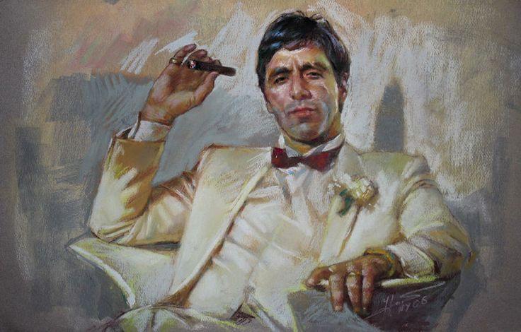 Scarface By Ylli Haruni Al Pacino Soft Pastels