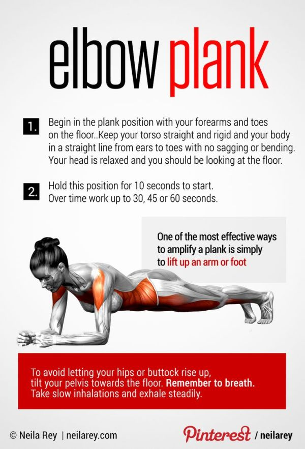 Elbow Plank Perfect Core Exercise Fitness Pinterest