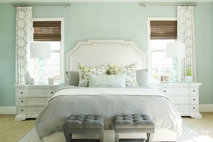 House of Turquoise: Shea McGee of Studio McGee - Palladian Blue Bedroom