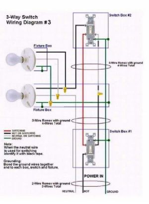 3 way switch wiring diagram 3 | Electrical Services