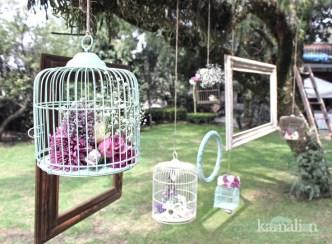 www.kamalion.com.mx - Vintage / Decor / menta & morado / boda / wedding / mint & purple / cage / jaula / frame / marcos