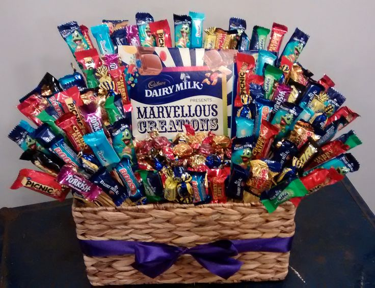 DIY Cadbury Chocolate Gift Basket