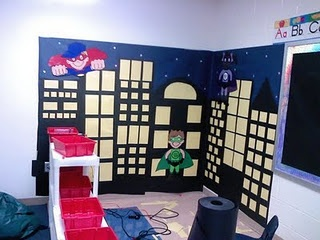 Superhero themed classroom. I love this idea, I know a teacher who used it this year and the kids love