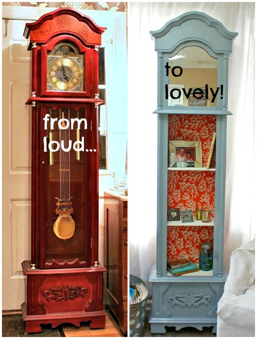 repurposed grandfather clocks furniture pinterest on fantastic repurposed furniture projects ideas in time for father s day id=13658