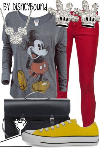 I have almost everything for this outfit! Just need the red pants.  And Im switc