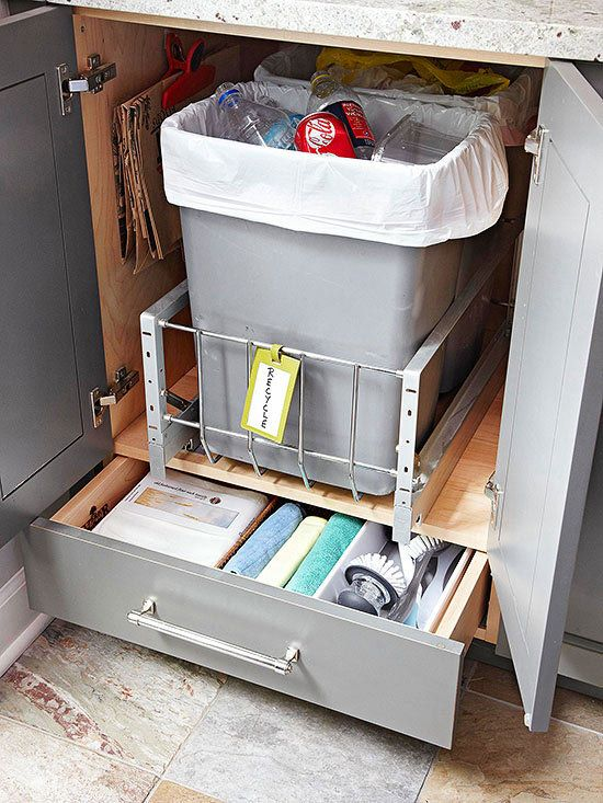 17 best images about trash disposal bins cabinets on pinterest stainless steel shopping and on kitchen organization recycling id=36637