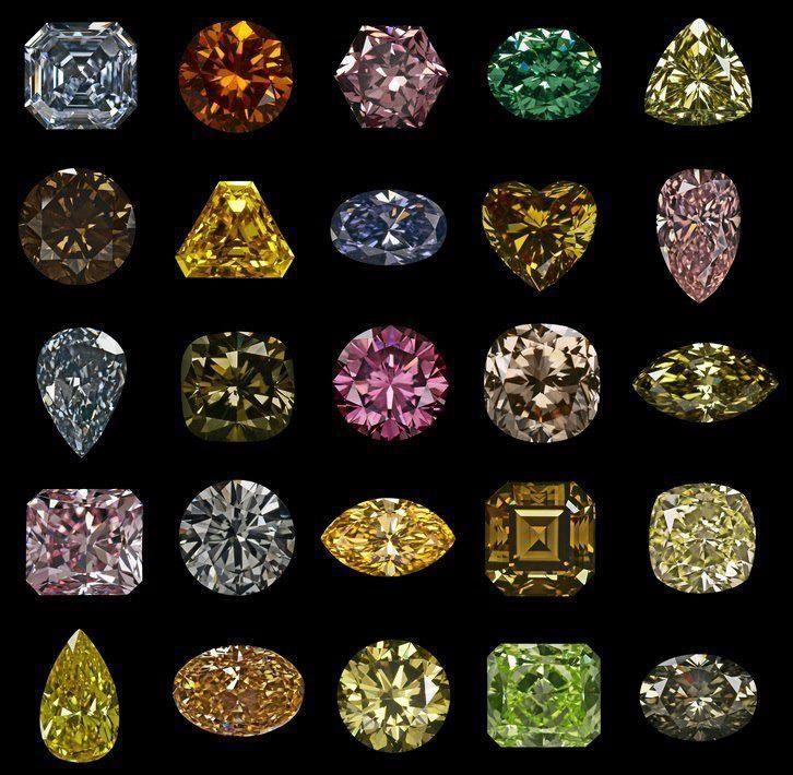 Fancy Cut Diamonds Gems Stone Pinterest Colors The