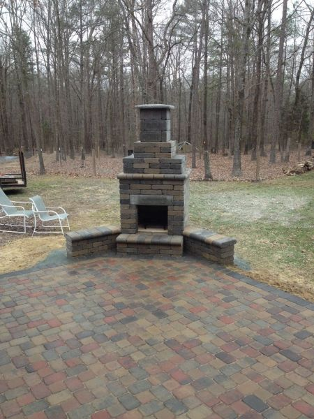 paver patio designs with fireplace 24 best images about Charlotte Outdoor Fireplaces on