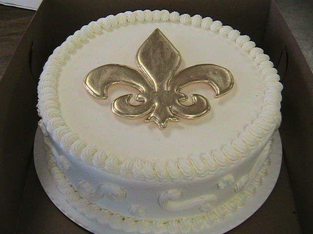Cakes Logo New Orleans Saints Wedding