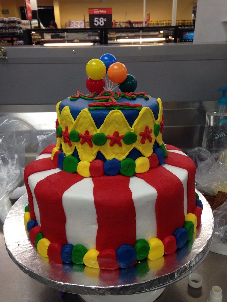 Custom Tier Cake Carnival Cake Walmart Cake Lizzy S