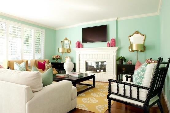 Mint Paint Color Living Room Home Decor Pinterest