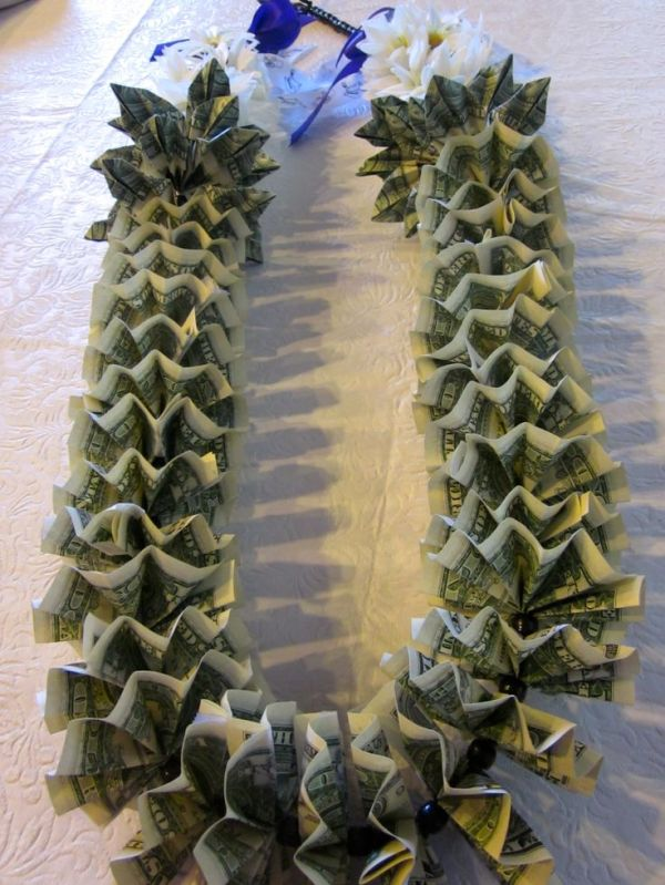 GRADUATION Money Lei with flowers! | Money Leis by Marilyn ...