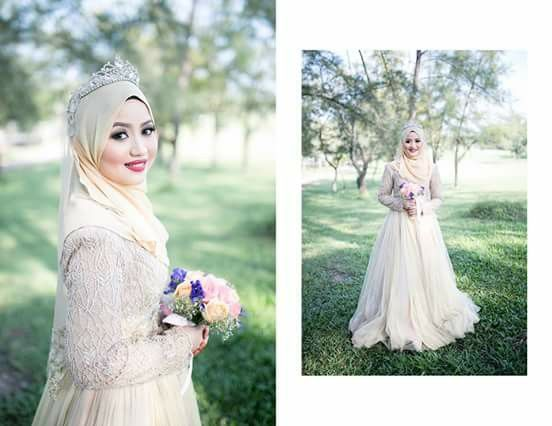 78+ Images About Hijab Bride Muslim Wedding Dress On