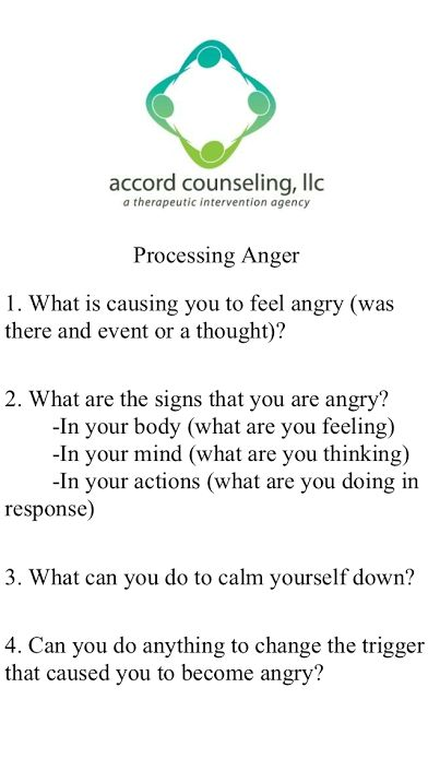 This Worksheet May Help Your Child To Process Their Anger