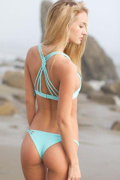 The Girl and The Water – Frankies Bikinis – Luna Bikini Bottom / Blue – $88 | SEXY SWIM SUIT | SUMMER | FASHION | M E G H A N ♠