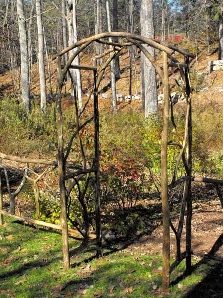 Diy Arbors And Trellis Made From Branches Gardening