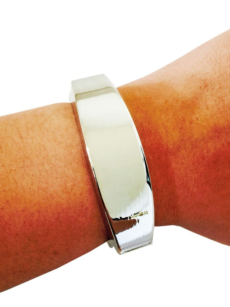 Fitbit Bracelet for Fitbit Flex Activity Trackers – The TORY Silver Bangle Fitbit Bracelet by Funktional Wearables Fitness Tracker