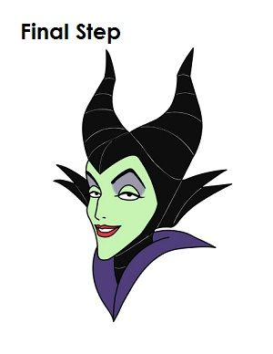 "How to Draw Maleficent Final Step"" title= 