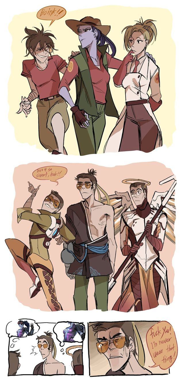 TF2Overwatch Crossover Lovable Things Pinterest