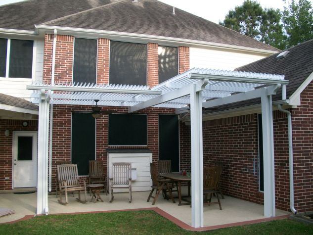 L Shaped Louvered Roof Patio Cover | Louvered Roof Patio ... on L Shaped Patio Ideas id=82148