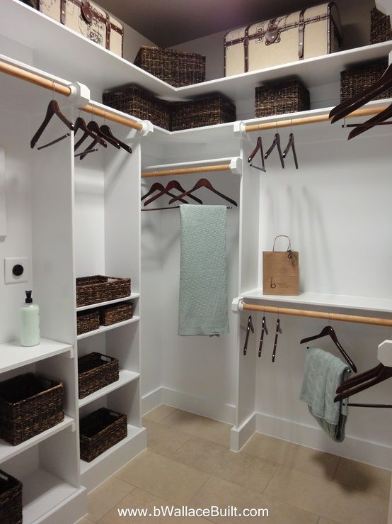 Diy Walk In Closet Design WoodWorking Projects Amp Plans