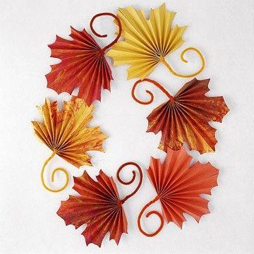 Folded Fall Leaves Fall Crafts