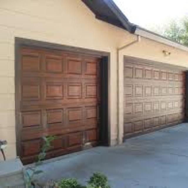 Garage door makeover. By applying a finishing technique ... on Garage Door Painting Ideas  id=69716
