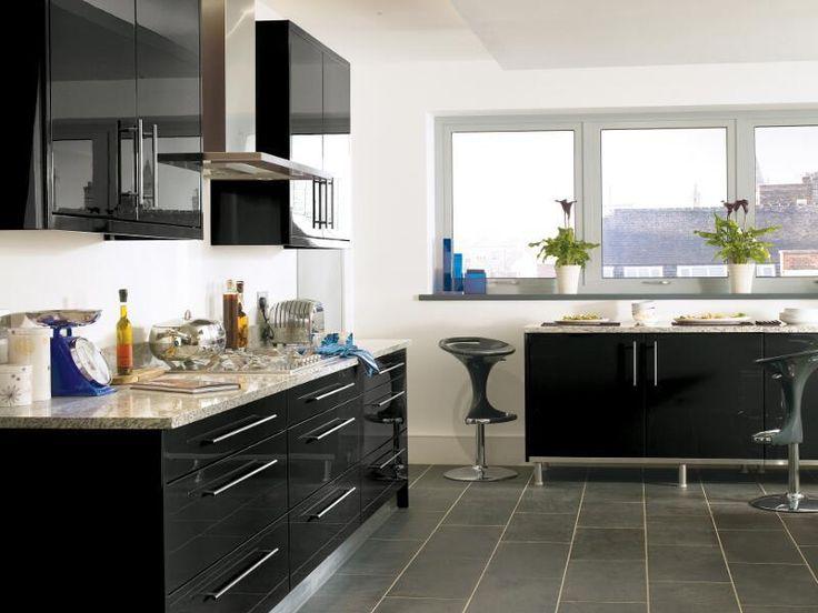 black high gloss lacquer kitchen design ipc431 high gloss kitchen cabinet design ideas 2015 on kitchen interior cabinets id=20962