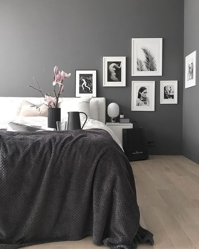 A Grey And White Bedroom Is To Me