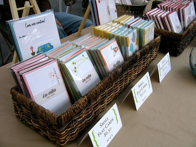 Basket display by Invita Paper Studio