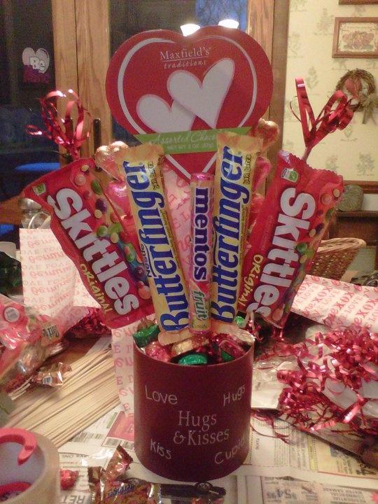 Valentines Day Candy Bouquet Valentines Day Pinterest