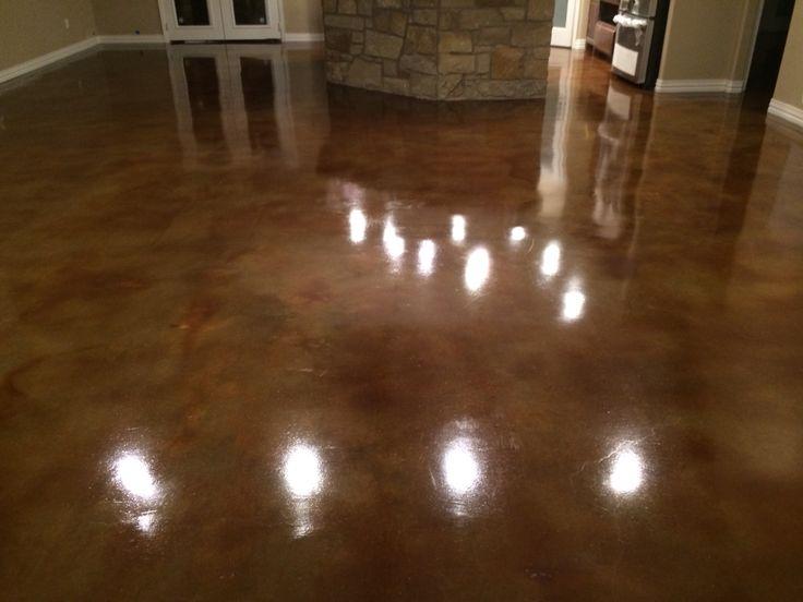 Kona Brown Acid Stained Floors Buffalo Gap Texas