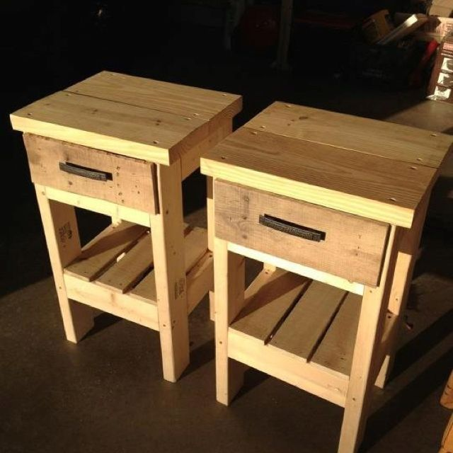 DIY Night Stands Made From Recycled Pallets Up Cycling