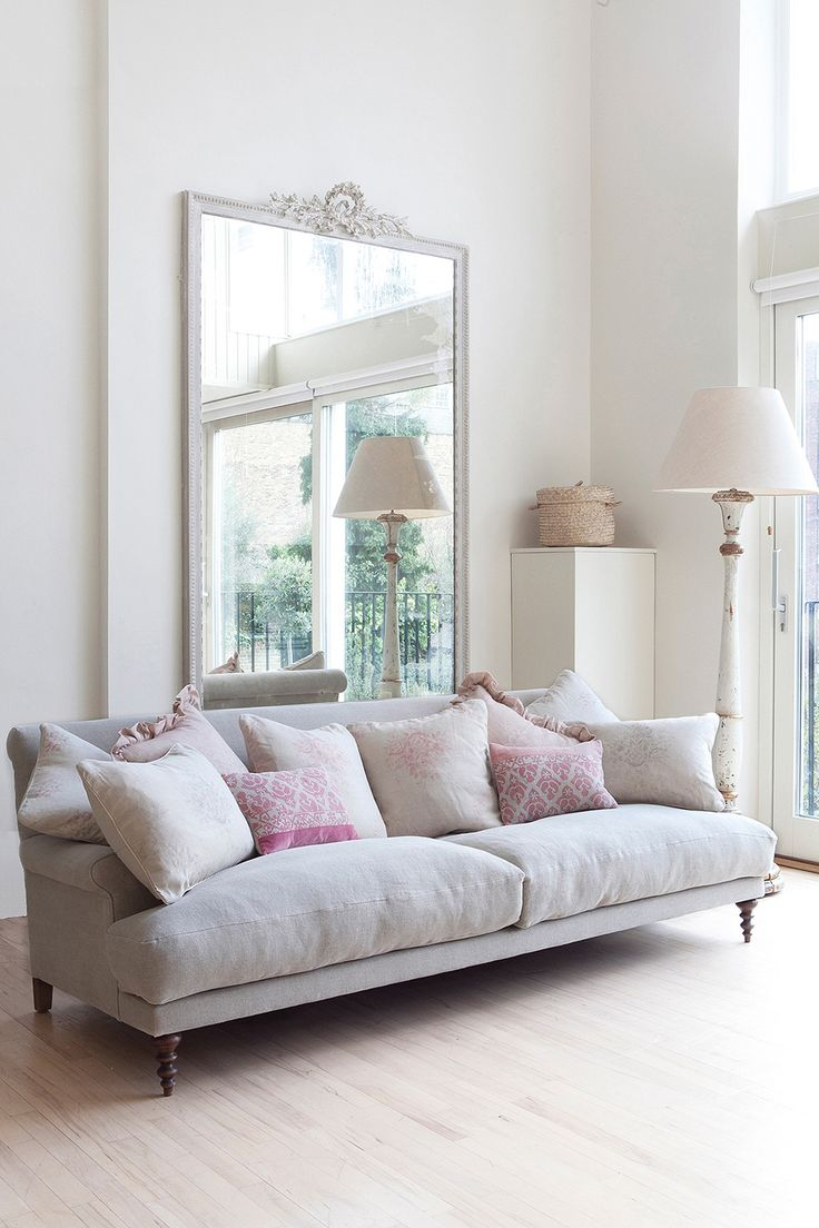 1) Farrow and Ball Slipper Satin: Kate Forman says, 'This is the softest off white of my favourites, this pale chalky white is stunning in big light rooms such as this wonderful London studio where I have used minimal furniture, feminine pinks and natural linens to offset the simplicity of such a great space.'...Full details on Modern Country Style blog: Kate Forman's 8 Favourite Farrow and Ball paints