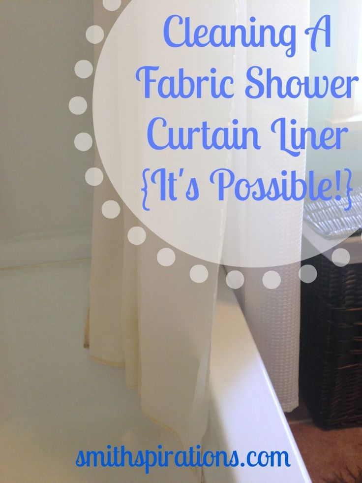 How To Remove Mold From Fabric Shower Curtain Liner   www ...