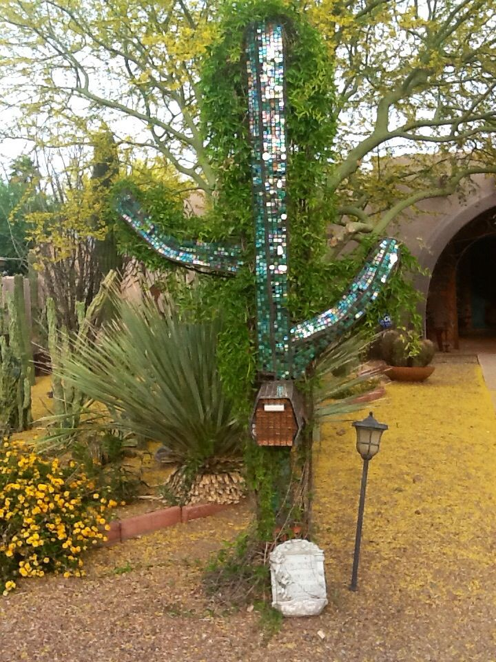 Saguaro Cactus Rebar Mailbox Zelov Yard Art Pinterest Cactus