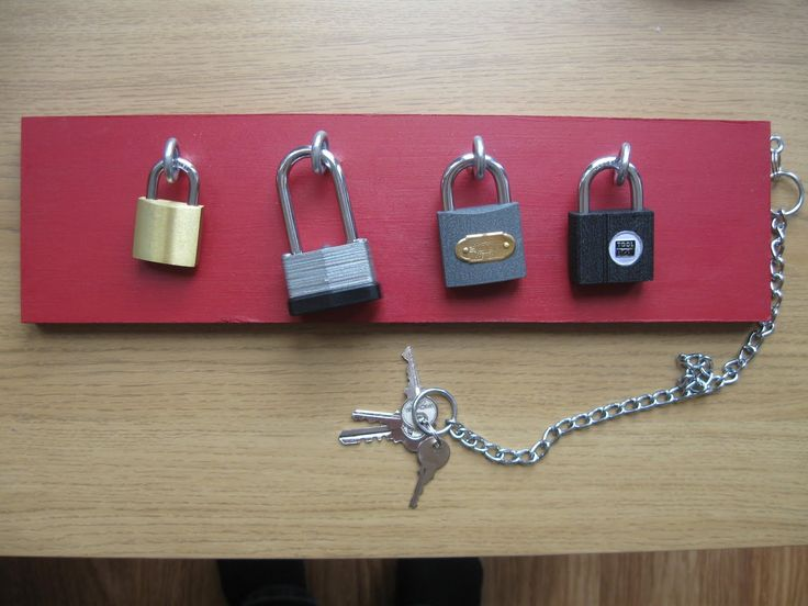 Montessori practical life activity – unlocking padlocks with keys