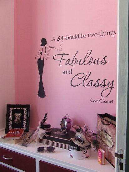 Burlesque Home Decor The Vinyl Decal Adding Wall Interest